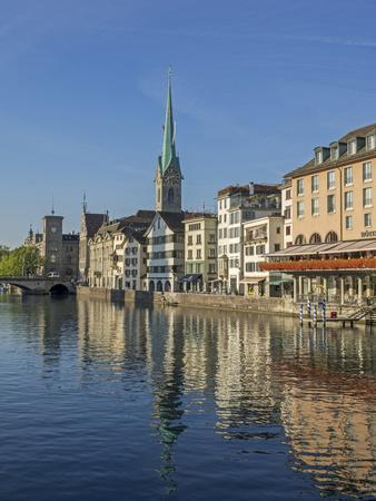 Switzerland, Zurich, Historic Lindenhof Area and Limmat River