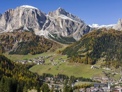 Corvara in Gader Valley, Alto Adige. Mount Sassongher in the Background