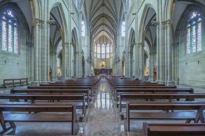 Spain, San Sebastian, San Sebastian Cathedral of the Good Shepard Interior