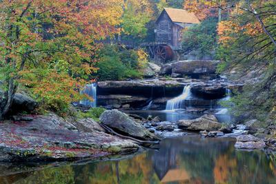 West Virginia, Babcock State Park. Glade Creek Grist Mill