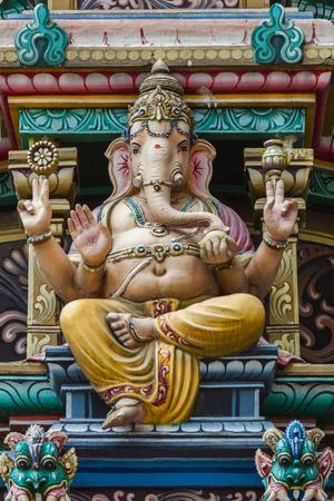 Singapore, Chinatown, Sri Mariamman Hindu Temple, Detail of Hindu Deity, Ganesh