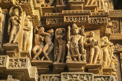 Erotic Sculptures of Khajuraho, Madhya Pradesh, India