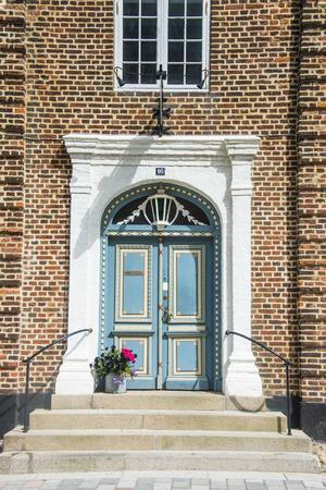 Historic Brick House Entrance in Ribe, Denmark's Oldest Surviving City, Jutland, Denmark