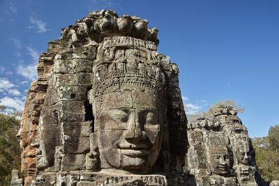 Faces Thought to Depict Bodhisattva Avalokiteshvara, Angkor World Heritage Site