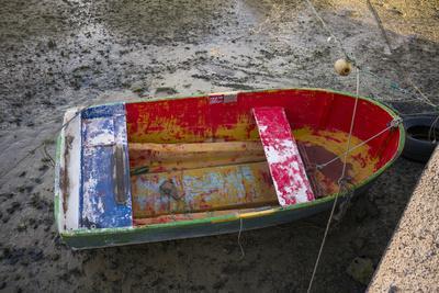 Spain, Canary Islands, Lanzarote, Arecife, Charco De San Gines, Fishing Boat, Dawn
