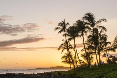 Sunset at Poipu Beach Kauai, Hawaii
