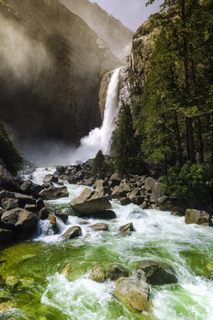 Lower Yosemite Falls, Yosemite National Park, Usa