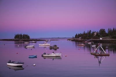 Maine, Newagen, Harbor View, Dawn