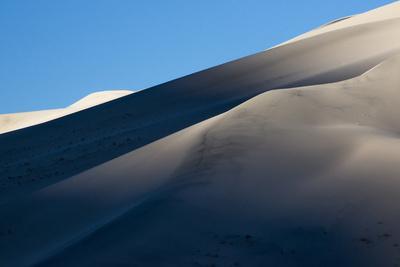 California. Death Valley National Park. Early Morning Light on Eureka Sand Dunes