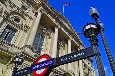 England, Central London, City of Westminster, West End. Piccadilly Circus Underground Station