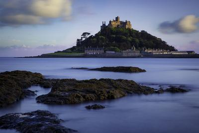 Twilight over Saint Michael's Mount, Marazion, Cornwall, England, Uk