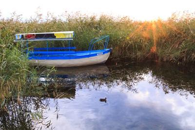 Macedonia, Ohrid and Lake Ohrid. Boats on Water