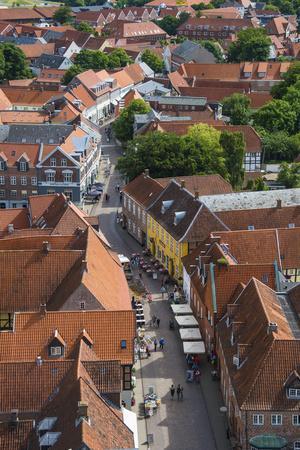Overlook over Ribe, Denmark's Oldest Surviving City, Jutland, Denmark