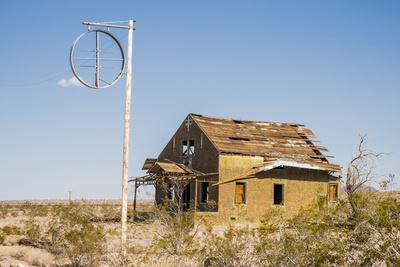 California, Drought Spotlight 3 Route 66 Expedition, Ludlow, Abandon Building