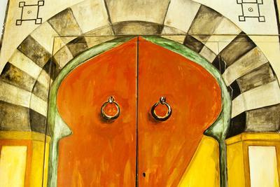 Painted Door, Tunisia, North Africa