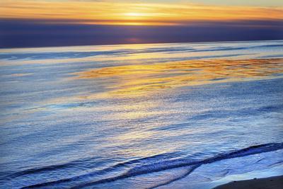 Ellwood Mesa Coastline Pacific Ocean Orange Sunset Goleta California