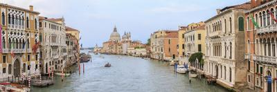 Panorama. Grand Canal. Basilica Di Santa Maria Della Salute in Background. Venice. Italy