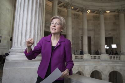 Senate Warren Breaking Rules