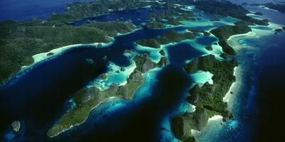 Karst Beehive Islands That Form the Wayag Island Group in Raja Ampat, Indonesia