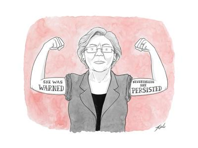 She was warned. Nevertheless she persisted. - Cartoon