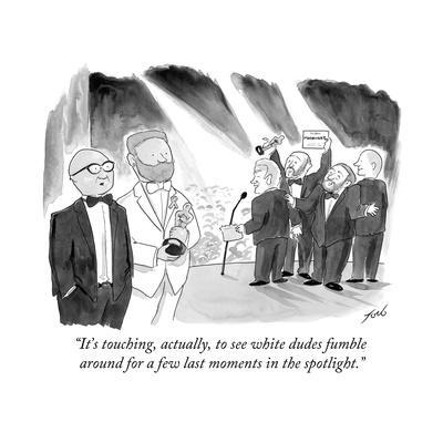 """""""It's touching, actually, to see white dudes fumble around for a few last ?"""" - Cartoon"""