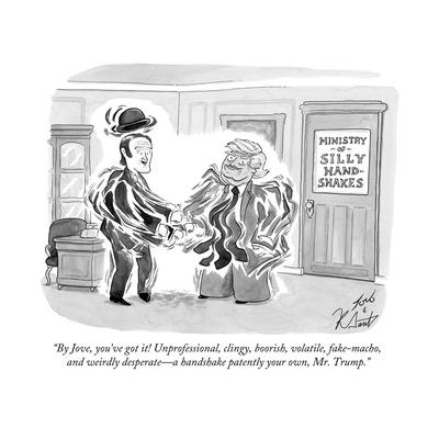 """By Jove, you've got it! Unprofessional, clingy, boorish, volatile, fake-m? - Cartoon"