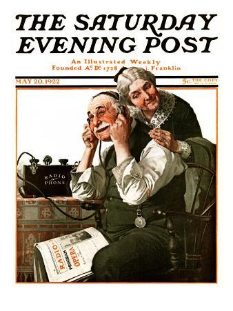 """Wonders of Radio"" or ""Listen, Ma!"" Saturday Evening Post Cover, May 20,1922"
