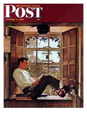 """Willie Gillis in College"" Saturday Evening Post Cover, October 5,1946"