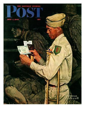 """War Bond"" Saturday Evening Post Cover, July 1,1944"