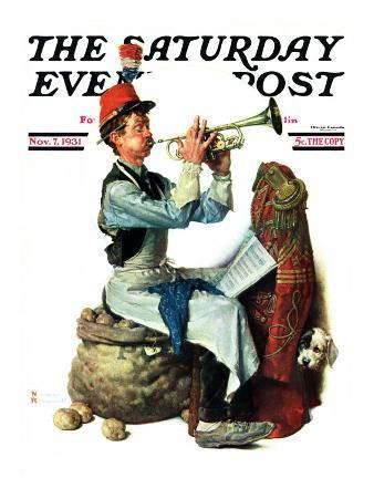 """""""Trumpeter"""" Saturday Evening Post Cover, November 7,1931"""