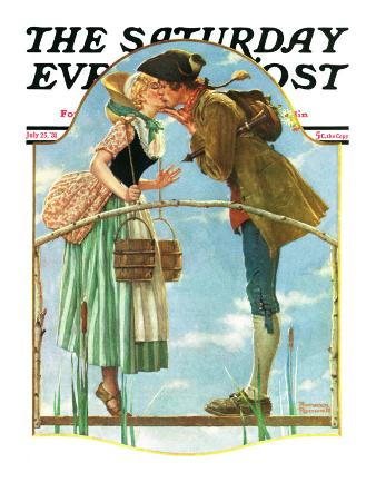 """""""Milkmaid"""" Saturday Evening Post Cover, July 25,1931"""