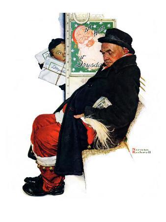 """See Him at Drysdales"" (Santa on train), December 28,1940"