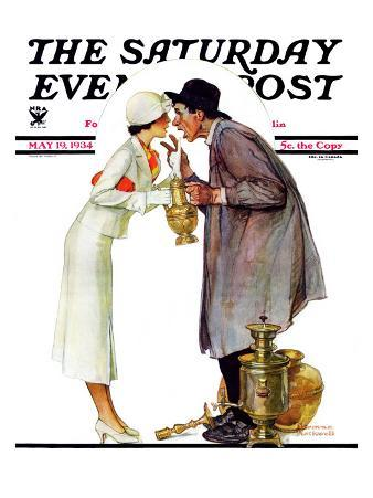 """Bargaining with Antique Dealer"" Saturday Evening Post Cover, May 19,1934"