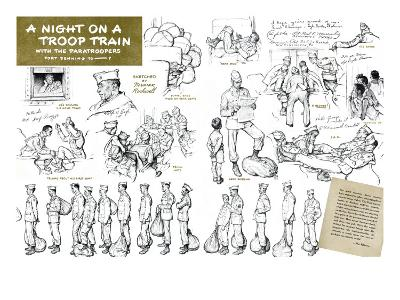 """""""Night on a troop train"""", May 8,1943"""