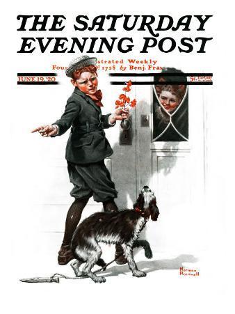 """Three's Company"" Saturday Evening Post Cover, June 19,1920"