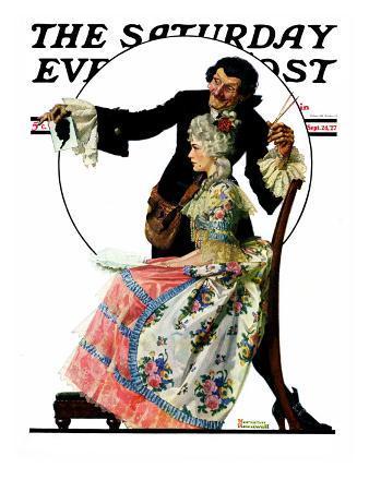 """Silhouette Maker"" Saturday Evening Post Cover, September 24,1927"