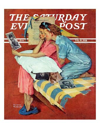 """""""Movie Star"""" Saturday Evening Post Cover, February 19,1938"""
