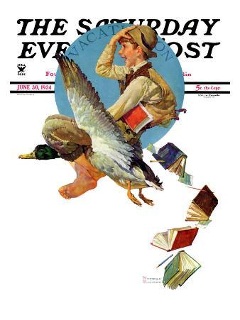 """Summer Vacation, 1934"" Saturday Evening Post Cover, June 30,1934"