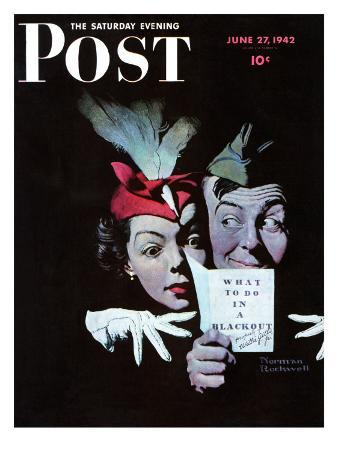 """""""Willie Gillis in a Blackout"""" Saturday Evening Post Cover, June 27,1942"""
