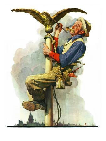 """""""Gilding the Eagle"""" or """"Painting the Flagpole"""", May 26,1928"""