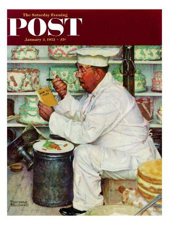 """""""How to Diet"""" Saturday Evening Post Cover, January 3,1953"""