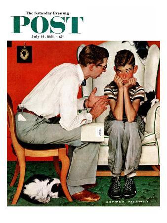 """""""Facts of Life"""" Saturday Evening Post Cover, July 14,1951"""