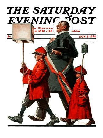 """""""Army March"""" or """"Grand Reception"""" Saturday Evening Post Cover, November 8,1924"""