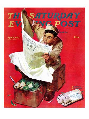 """""""Willie Gillis on K.P"""" Saturday Evening Post Cover, April 11,1942"""