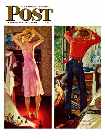 """""""Before the Date"""" Saturday Evening Post Cover, September 24,1949"""