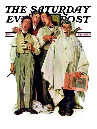 """Barbershop Quartet"" Saturday Evening Post Cover, September 26,1936"