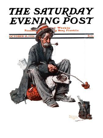 """""""Hobo"""" Saturday Evening Post Cover, October 18,1924"""