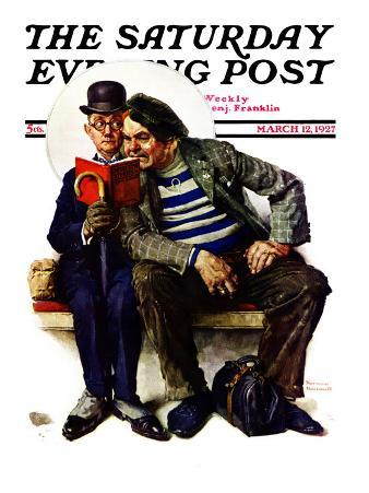 """""""Plot Thickens"""" Saturday Evening Post Cover, March 12,1927"""