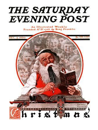 """Santa's Expenses"" Saturday Evening Post Cover, December 4,1920"