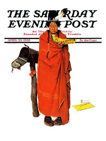 """""""See America First"""" Saturday Evening Post Cover, April 23,1938"""
